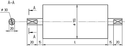 Натяжной конвейерный Мотор-Барабан БН1