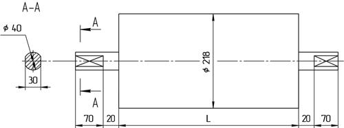 Натяжной конвейерный Мотор-Барабан БН2