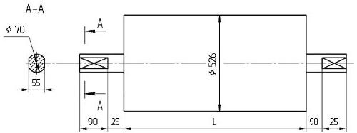 Натяжной конвейерный Мотор-Барабан БН5