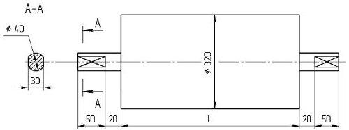 Натяжной конвейерный Мотор-Барабан БН3